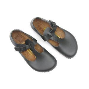 BIRKENSTOCK Paris Black Leather Clogs Shoe 38 Rare